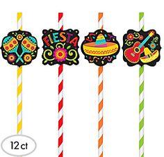 Fiesta Paper Straws 12ct