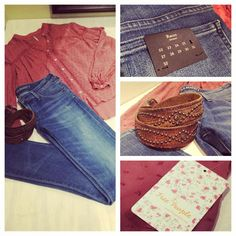 Outfit of the day! #perle #sonoma #fall #fashion #freepeople #denim #belt #oldtsud
