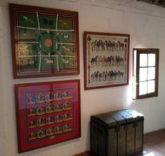 Home decor with framed H scarves