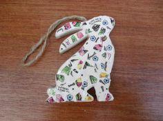 Mosaic Rabbit Handmade Mosaic Vintage China by BigGirlSmallWorld