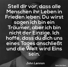 John Lennon - Imagine ♥ Stell Dir vor, dass alle Menschen in Frieden leben