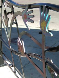 also awesome metal work for garden fence