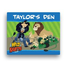 need for his room too!  The Official PBS KIDS Shop | Wild Kratts Lion Around 16 x 20 Canvas Wall Art