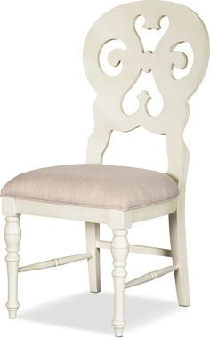 Dining Table Redo, White Round Dining Table, Kitchen Dining Sets, Dining Room Sets, Dining Chairs, Fireplace Screens With Doors, French Country Dining Room, Value City Furniture, Reclining Sectional