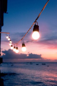 String Lights on the Water   Source: Unknown
