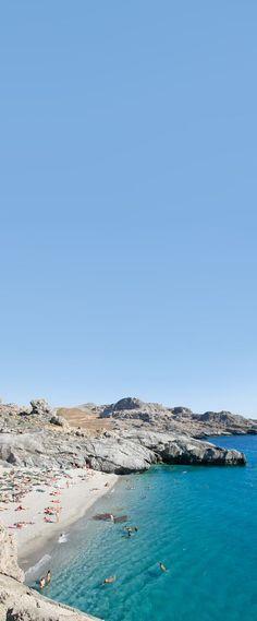 Ammoudaki beach at the south part of Rethymno, Crete