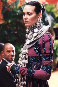 "johngallianotheking:  "" John Galliano for Christian Dior Haute Couture, 1998.  Renaissance epoch inspiration…  """