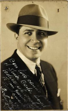 Carlos Gardel, the legendary grandfather of the tango, who died in a plane crash in Medellin at age 44. His body was paraded through New York and Montevideo before being laid to rest in Buenos Aires.