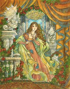 """Beauty Crept Inside"" Original artwork by Rebecca Guay available at the R. Michelson Galleries or at rmichelson.com"