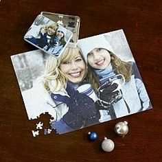 Photo Puzzles with Gift Tin...oddly cute, or creepy, depends on how you look at it.