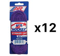Other Hockey Skates 165935: Aandr Striker Ice Hockey Waxed Skate Laces Heavy Duty Lace Purple 72 (12-Pack) -> BUY IT NOW ONLY: $32.83 on eBay!