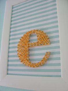 String Art Frame E for Eleanor Elizabeth? Maybe someday...