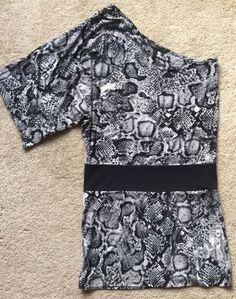 BCBG MAX AZRIA Women's Snake Print Single Shoulder Dress Size XS | eBay