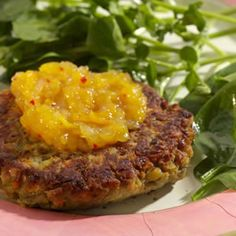 These vegetarian burgers are just the thing for a summery picnic, on buns or on their own with sliced tomatoes and relish. Or try them with roasted potatoes and roasted broccoli. Use a wide spatula t...see more