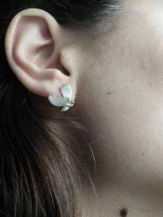 Little Bee Sterling Silver Studs-Hand Sculpture Earrings-Lost Wax Method-Minimal Earrings on Luulla by ana9112