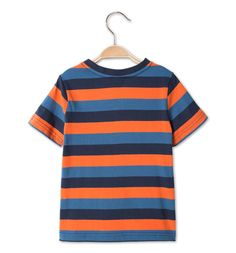 Backimage View Camiseta de manga corta en look 2 en 1 in azul