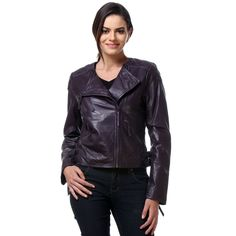 Buy Latest Bareskin Black Leather Jacket for women Online in India ...