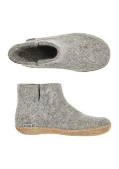 FELTED WOOL SLIPPER BOOT by TOAST