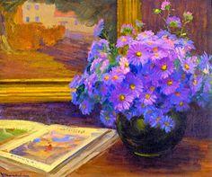Jean Mannheim - Purple Daisies