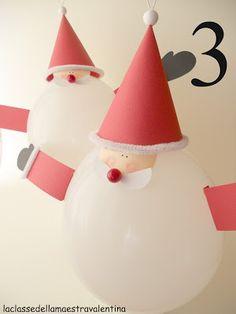 des pères noël plutôt gonflés... (tuto) à faire avec les enfants #Noel #Christmas