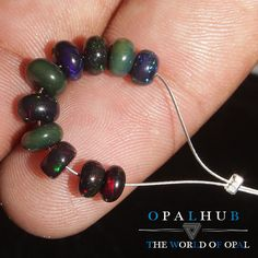 4 TO 5 MM NATURAL ETHIOPIAN WELO BLACK COLOR OPAL RONDELLE BEADS DEMI-STRAND 502