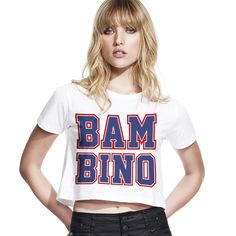 Bambino Cropped Top / Bars and Melody