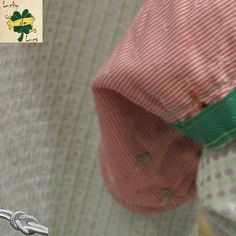 Camisa Cuadros Rosa y Verde detalle del puño