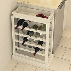 DIY - how to make a wine rack | Easy DIY project that will help you organize your kitchen or cellar