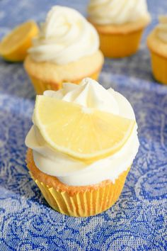 Lima Limón Aceite de Oliva Cupcakes