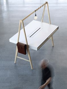 tengbom architects: a series office furniture, – Executive Home Office Design Deco Design, Wood Design, Design Design, Interior Design, Design Table, Wood Furniture, Furniture Design, Furniture Movers, Furniture Dolly