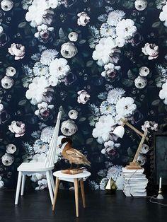 Elie Cashman Moody Floral Wallpaper