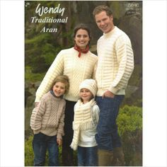 c6c21d2fb18d3  Teamsellit KNITTING PATTERN WENDY 5640 ARAN FAMILY SWEATERS