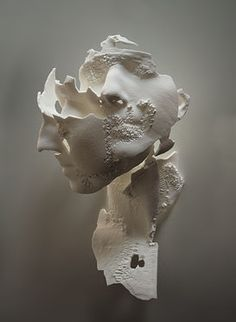 Sophie Kahn | Sculpture | Triple Portrait of E. 3d print from 3d laser scan Life size 2013