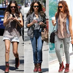 Diggin' Jessica Alba's Doc Martens' Pair and her style.