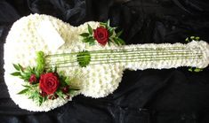 Sympathy Photo Gallery: Flower Guitar