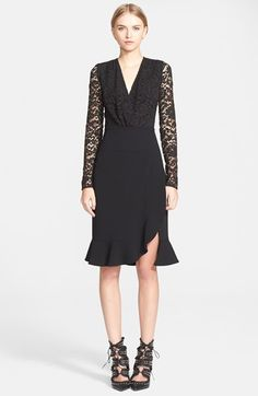 ALTUZARRA+Lace+Bodice+Ruffle+Dress+available+at+#Nordstrom
