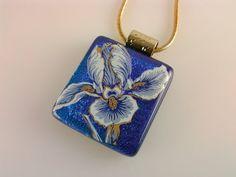 Dichroic Glass Pendant Fused Glass Iris Jewelry by AngelasArtGlass, $25.00