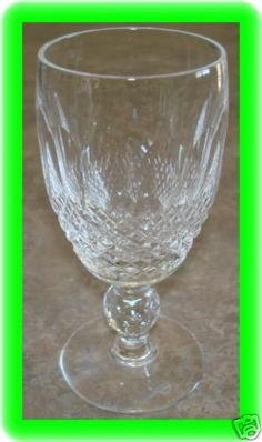 "WATERFORD COLLEEN SHERRY GLASS 4 1/4"" SHORT STEM NEW"
