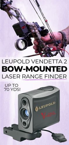 Bow-Mounted Laser Range Finder Leupold Vendetta 2 Compact, Button Activated Laser for Instant Ranging up to 70 yards! FREE Shipping Click To View Now! #AceOfBows #archery #bowsight #archerygear #compoundbow #rangefinder Archery Gloves, Archery Gear, Hunting Gear, Bow Hunting, Bow Rack, Bow Sights, Arm Guard, Compact, Bows