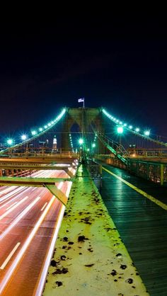 Brooklyn bridge, Nights, New York, United States