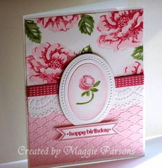 Stampin' Up! Stippled Blossoms Birthday by Magert40 - Cards and Paper Crafts at Splitcoaststampers