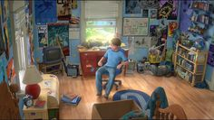 Toy Story 3 super fans Morgan and Mason McGrew re-created Andy's room, down to every last detail.
