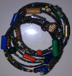 A wrap bracelet from Kenya.