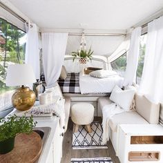 """605 Likes, 27 Comments - Poppytalk (@poppytalk) on Instagram: """"Insert us here.  How cute is this renovated pop-up camper trailer by @zevyjoy"""""""