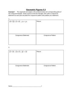 I designed these lessons to teach my students about geometric figures (the 3rd in a series of 8). This lesson can be purchased as a complete bundled unit at a discounted price under the listing Geometric Figures Complete Bundled Unit. This lesson focuses on: congruence statements (ASA, SSS, SAS), drawing altitudes, medians, perpendicular bisectors and angle bisectors, reflecting and translating a triangle.