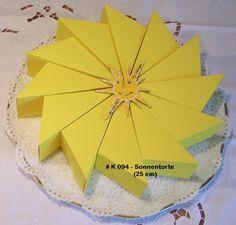 Bastelzubehör - Schablone Sonnentorte / Sternentorte 25/5,7cm 1... - ein Designerstück von Bastelkoenigin-de bei DaWanda