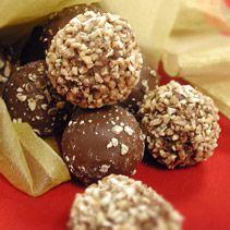 Chocolate Caramel Peanut Truffles from FoodNetwork.com