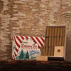 Balsam Incense Logs and Holder