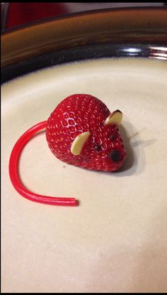 Strawberry Mice Snacks for DJ's class today!