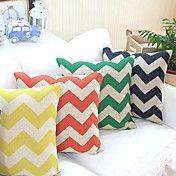 Set of 4 Colorful Chevron Cotton/Linen Decora... – USD $ 59.99